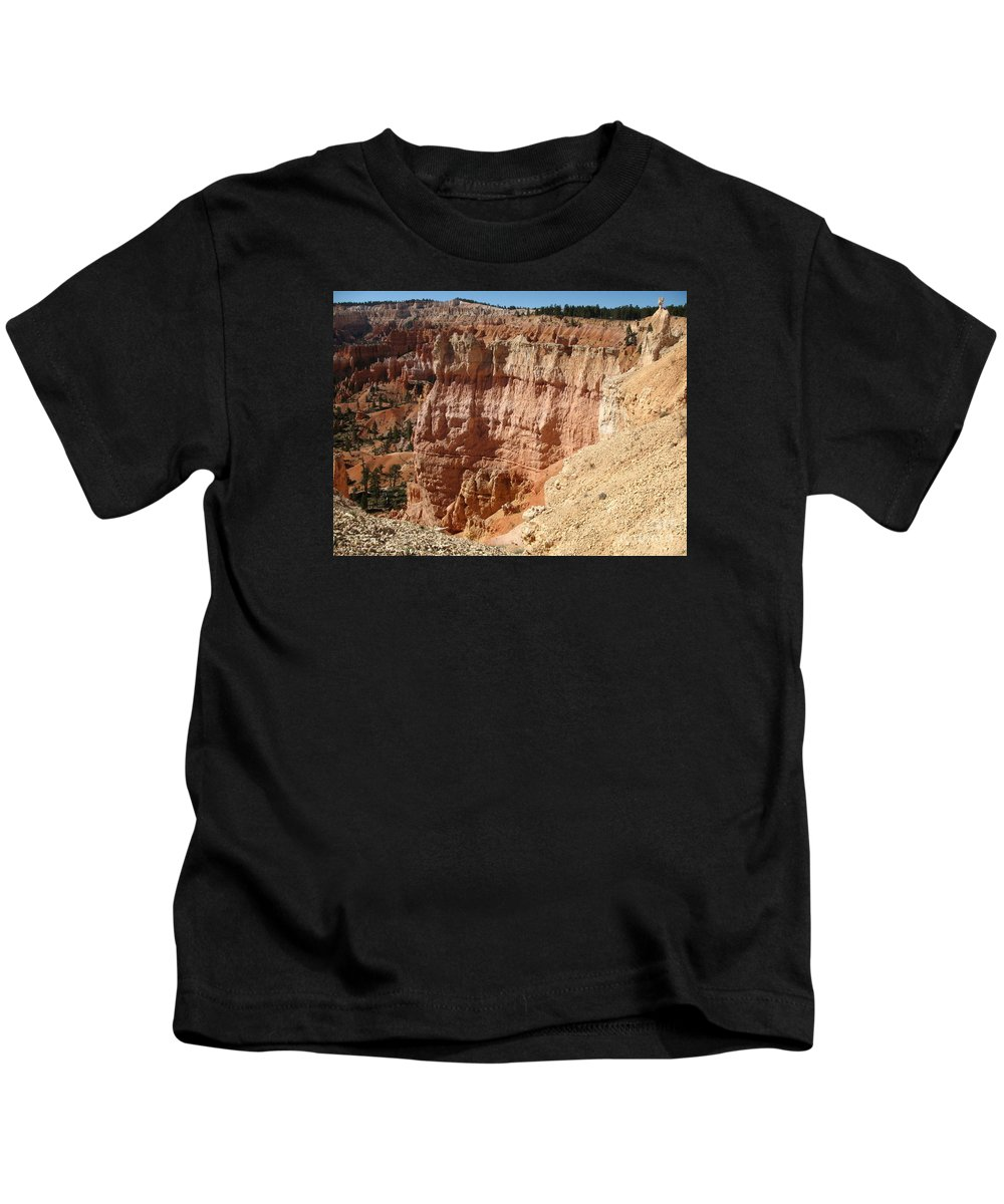 Rocks Kids T-Shirt featuring the photograph Red Rock Bryce Canyon by Christiane Schulze Art And Photography