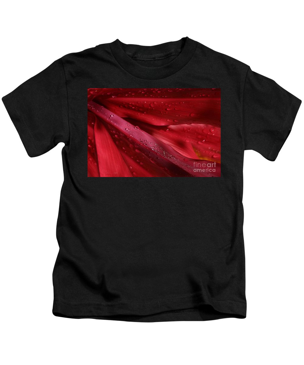 Cordyline Terminalis Kids T-Shirt featuring the photograph Red Ti The Queen Of Tropical Foliage by Sharon Mau