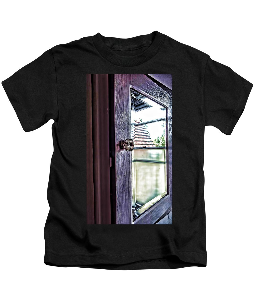 Reflections Kids T-Shirt featuring the photograph Reflections At The Landmark Des Moines Washington by Cathy Anderson