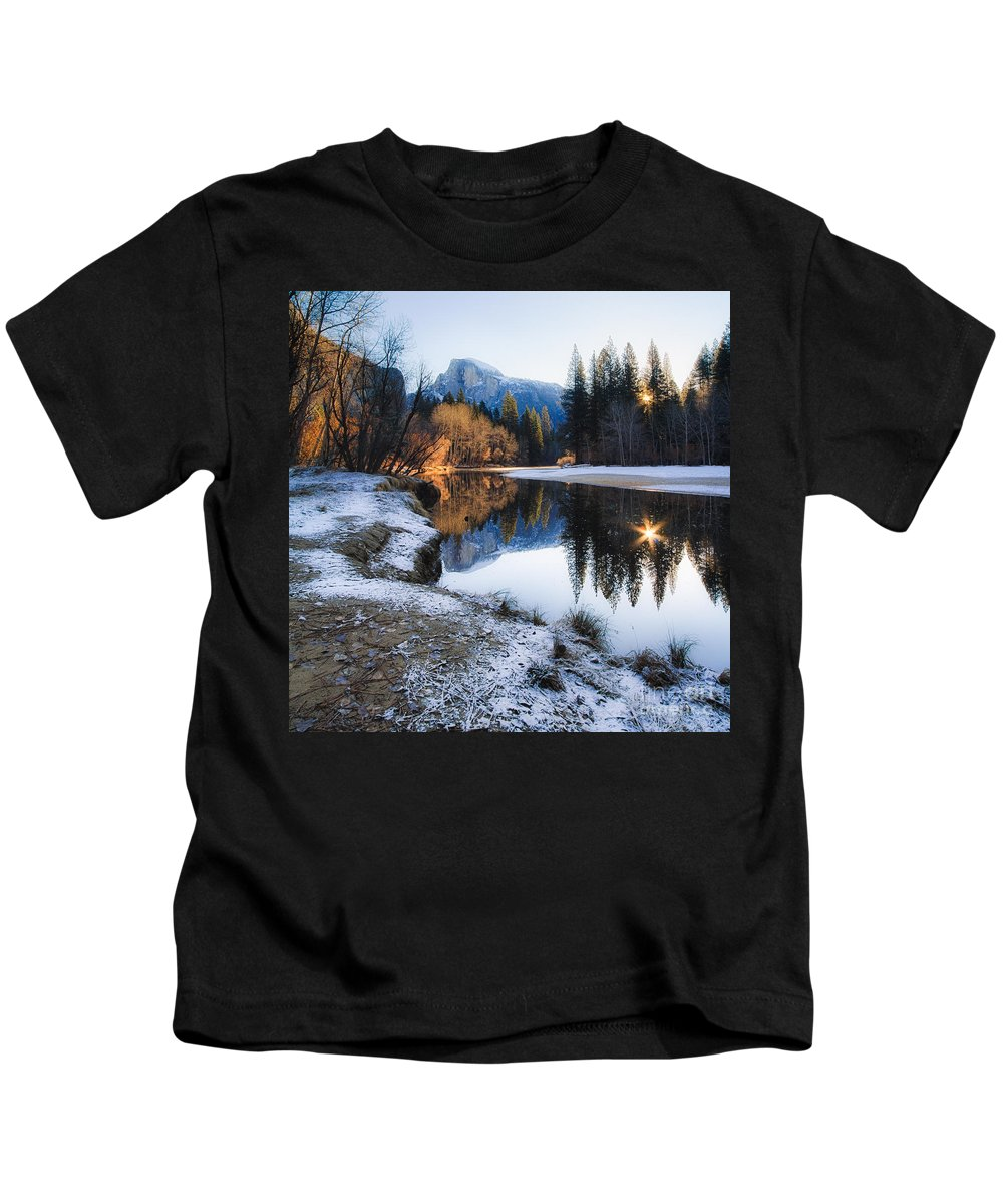 Yosemite National Park Kids T-Shirt featuring the photograph Reflections by Vincent Bonafede