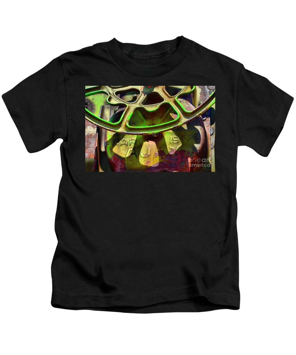 Abstract Kids T-Shirt featuring the photograph Relic Of 42 by Lauren Leigh Hunter Fine Art Photography
