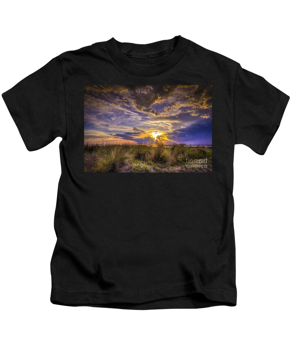 Sunset Kids T-Shirt featuring the photograph Remember This Day by Marvin Spates