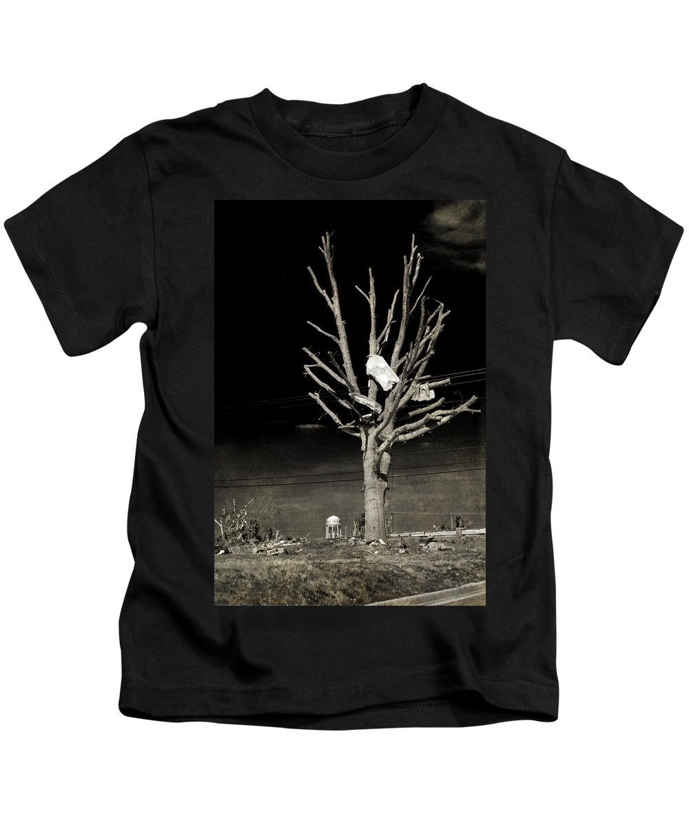 Tree Kids T-Shirt featuring the photograph Remembering Joplin by Judy Hall-Folde