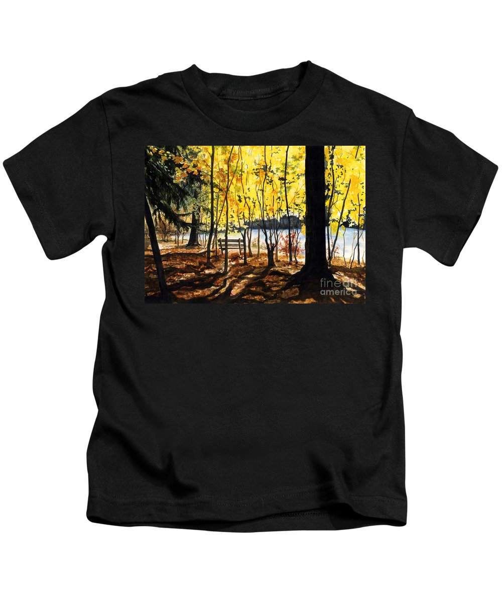 Water Color Paintings Kids T-Shirt featuring the painting Resting Place by Barbara Jewell