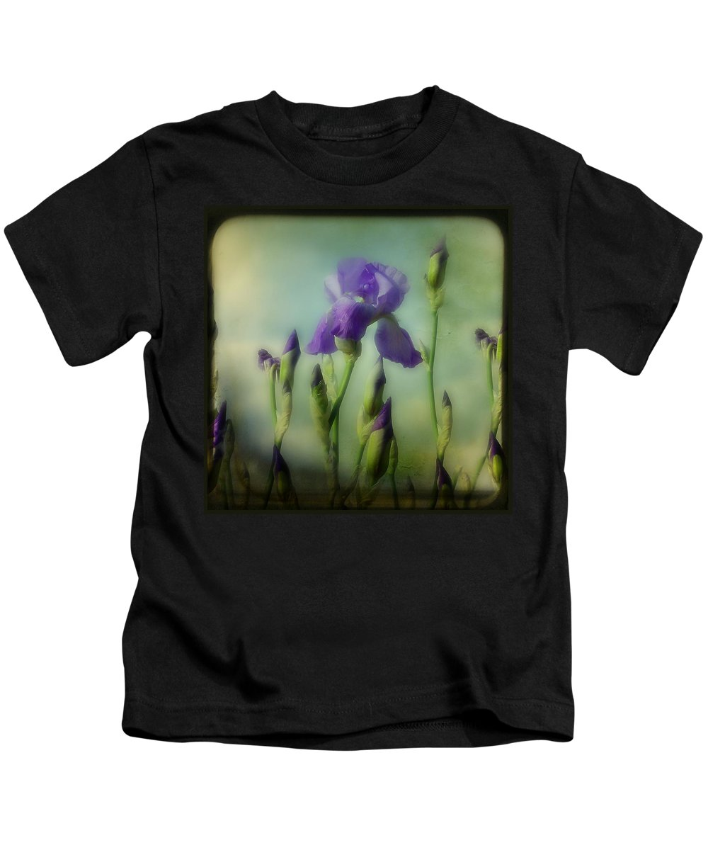 Iris Kids T-Shirt featuring the photograph Retro Iris Metting by Gothicrow Images