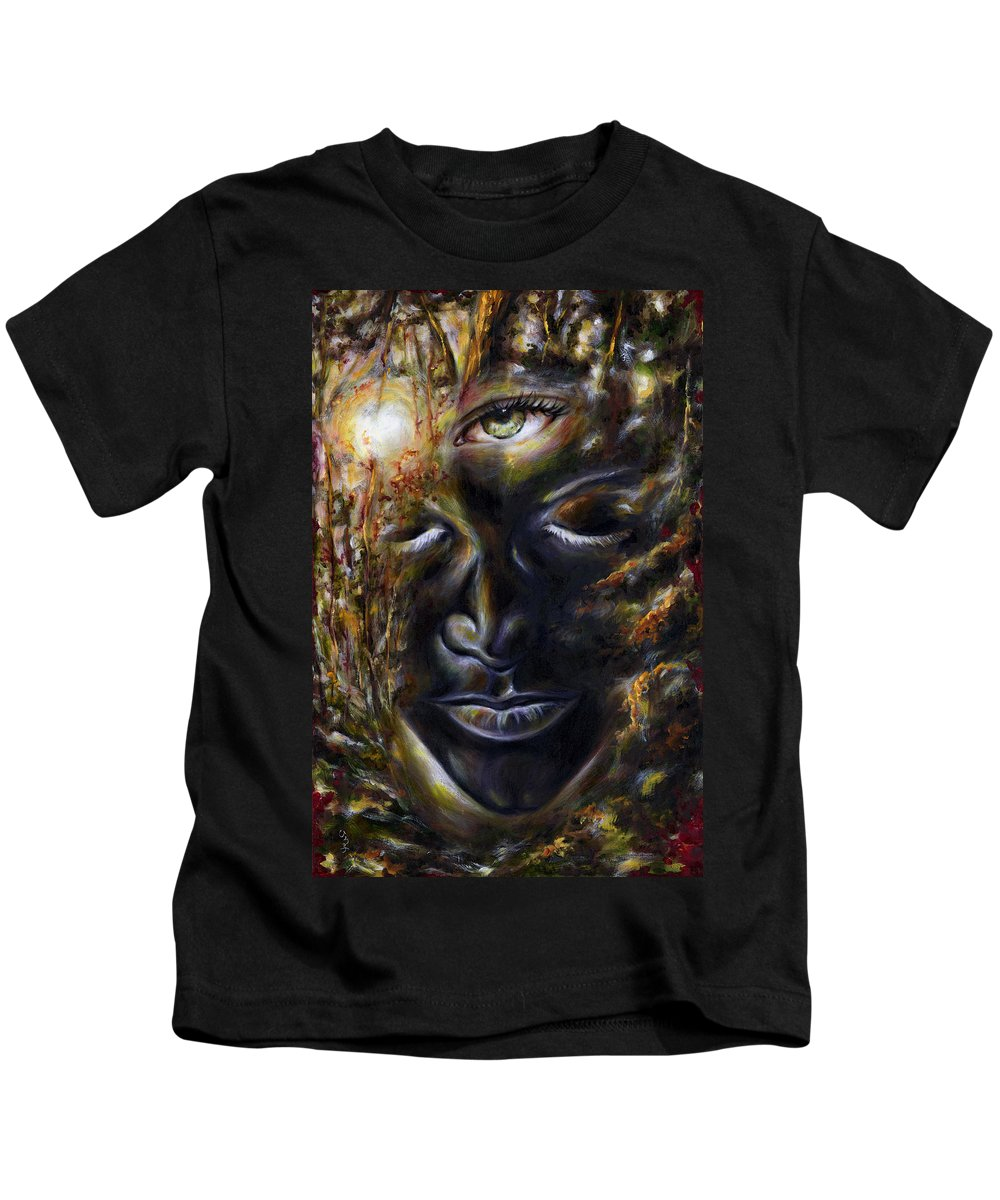 Eye Kids T-Shirt featuring the painting Revelation by Hiroko Sakai