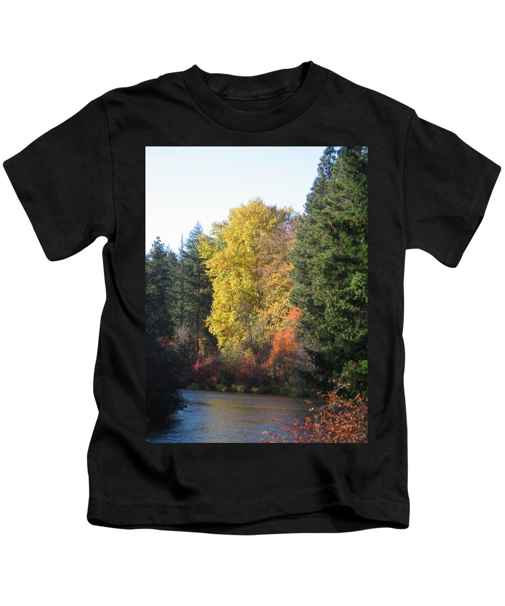 Riverbend Kids T-Shirt featuring the photograph River Bend by Kimberly Maxwell Grantier