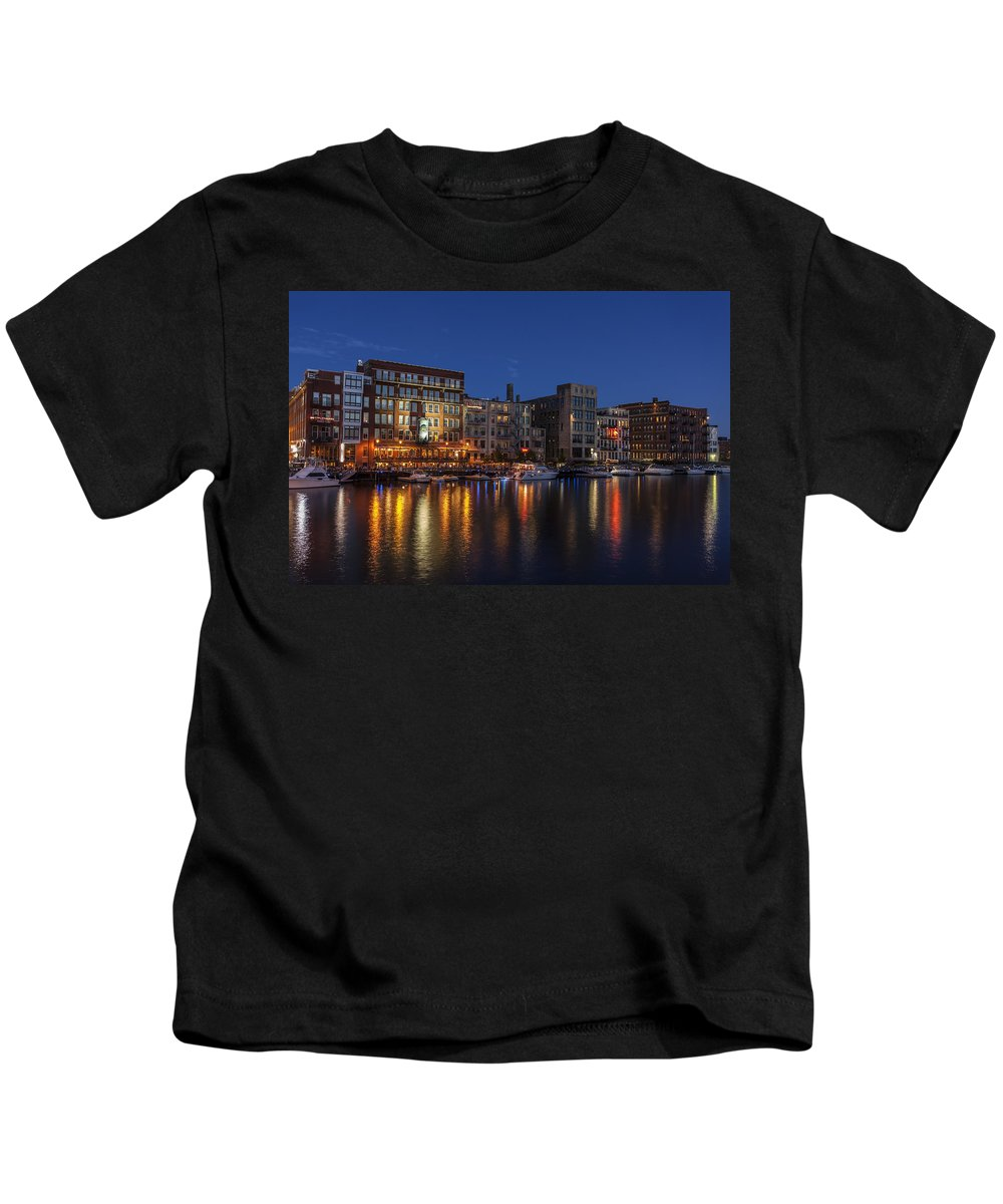 Www.cjschmit.com Kids T-Shirt featuring the photograph River Nights II by CJ Schmit