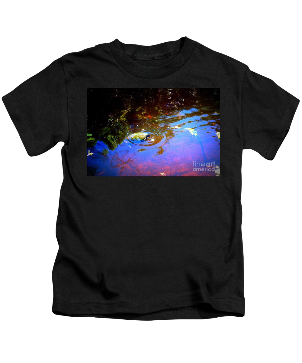 River Kids T-Shirt featuring the photograph River Turtle by Donna Walsh