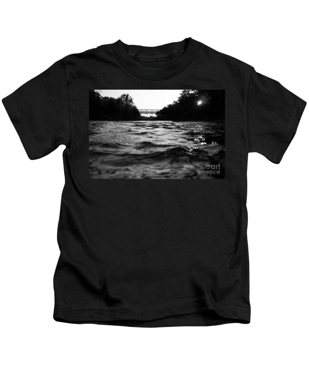 River Kids T-Shirt featuring the photograph Rivers Edge by Michael Krek