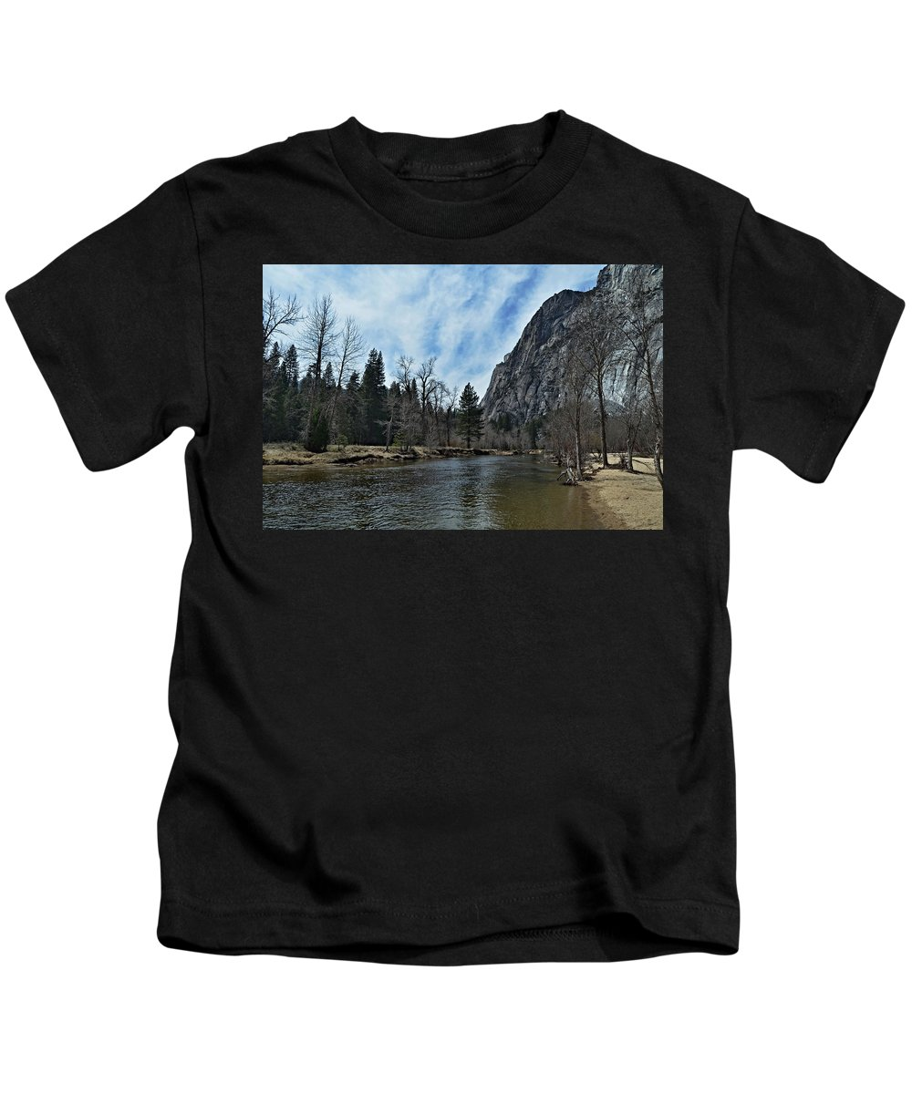 Riverside Kids T-Shirt featuring the photograph Riverside by See My Photos