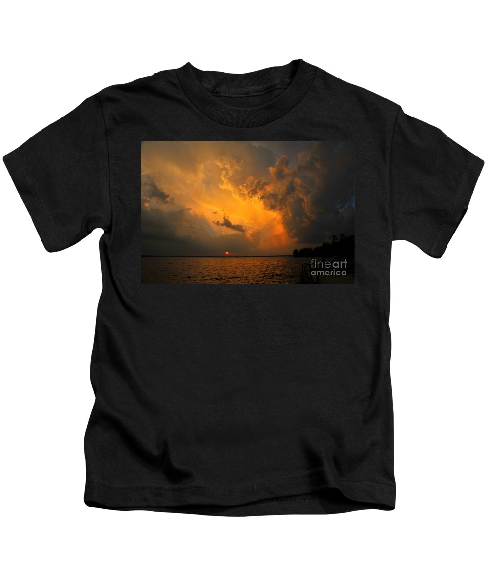 Bible Kids T-Shirt featuring the photograph Roar Of The Heavens by Terri Gostola