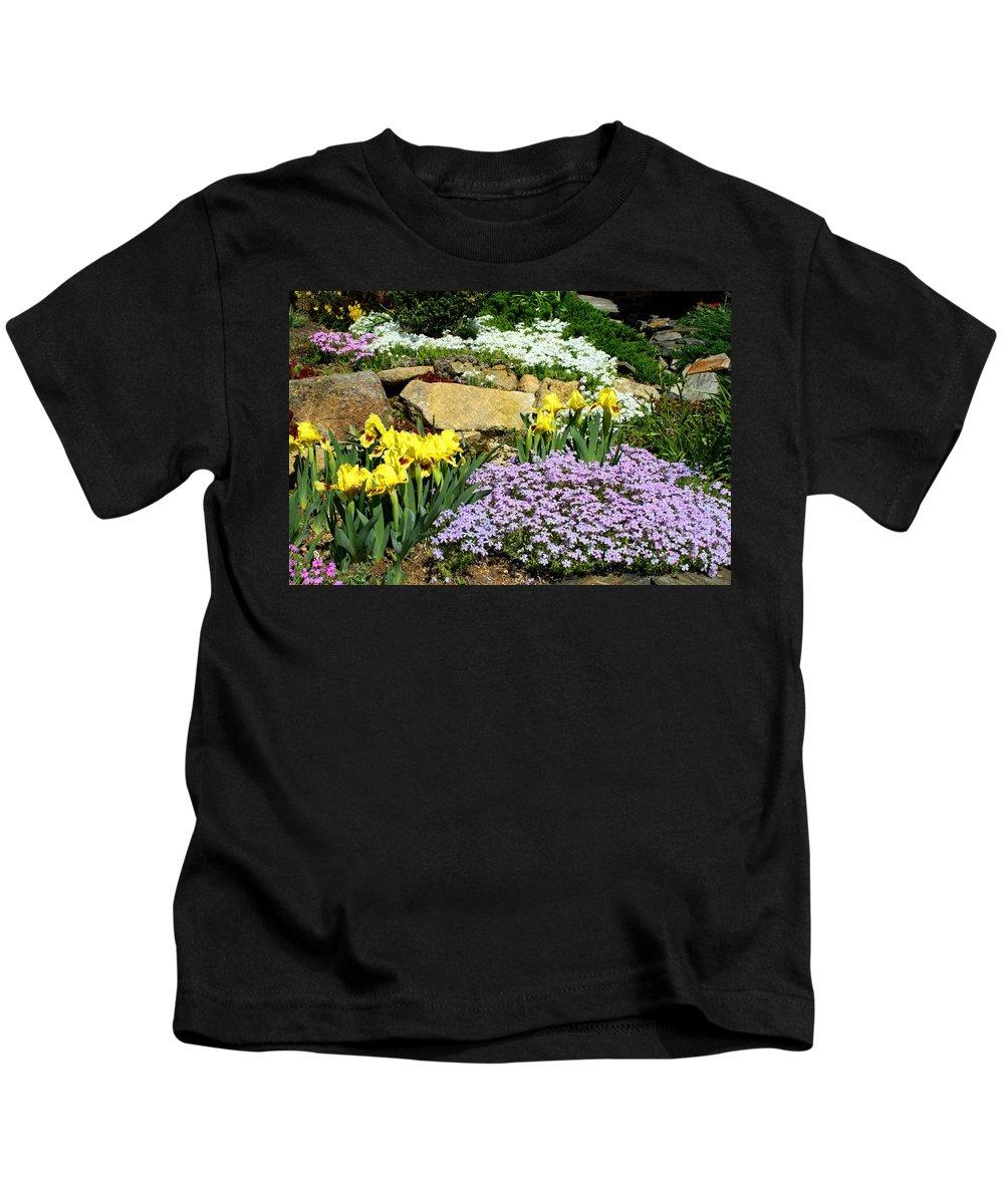 Flower Kids T-Shirt featuring the photograph Rock Garden Flowers by Kathryn Meyer