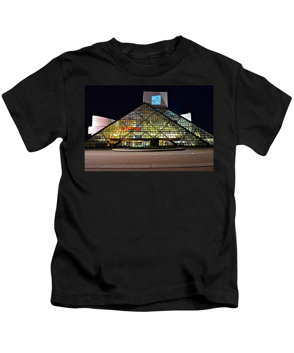 Rock And Roll Kids T-Shirt featuring the photograph Rock n Roll hall of Fame Induction by Frozen in Time Fine Art Photography