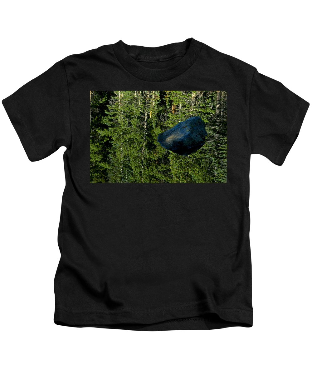Reflection Kids T-Shirt featuring the photograph Rock Out Of Reflecting Lake by Eric Albright