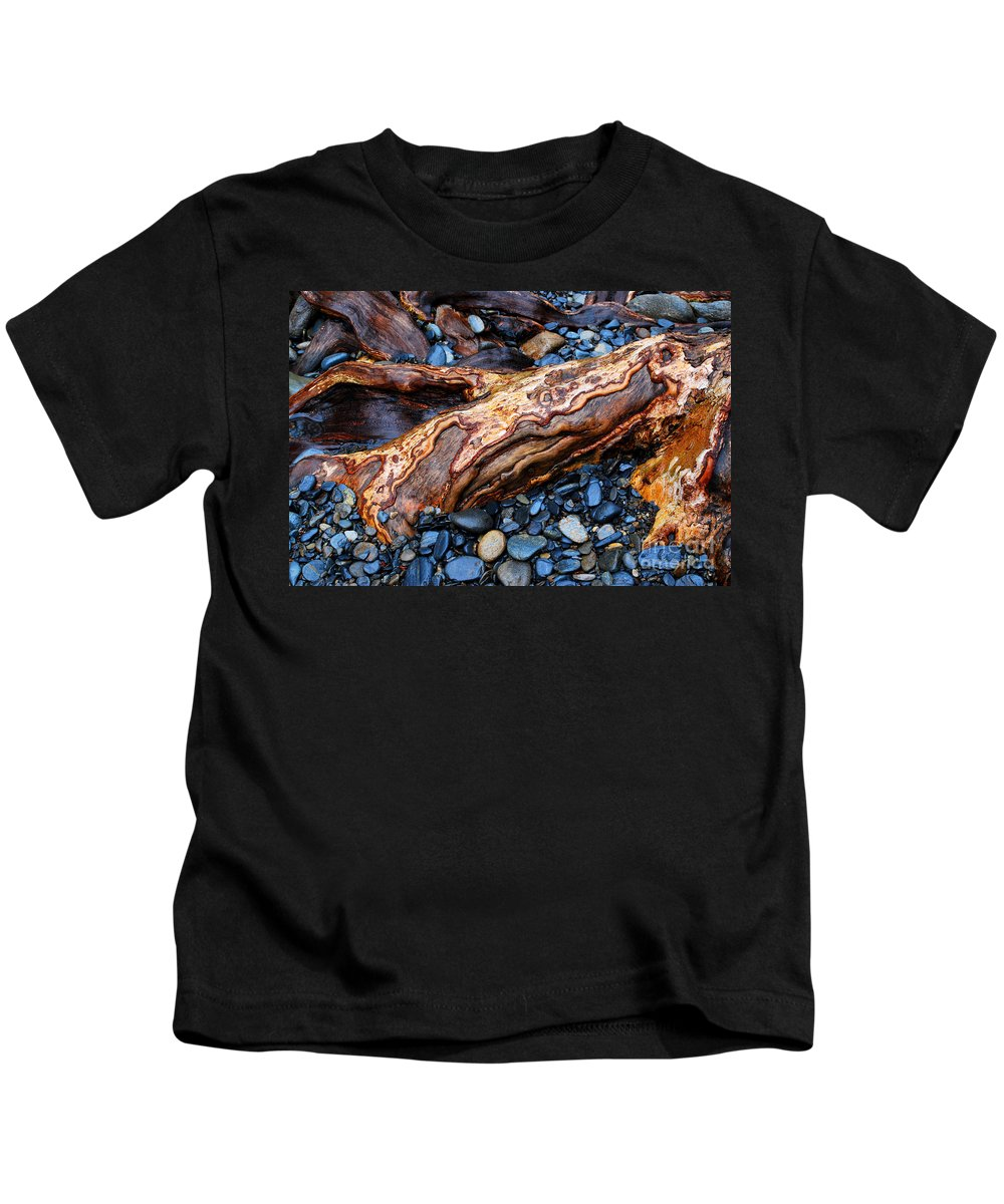 Rocks Kids T-Shirt featuring the photograph Rocks And Roots by Nancy Mueller