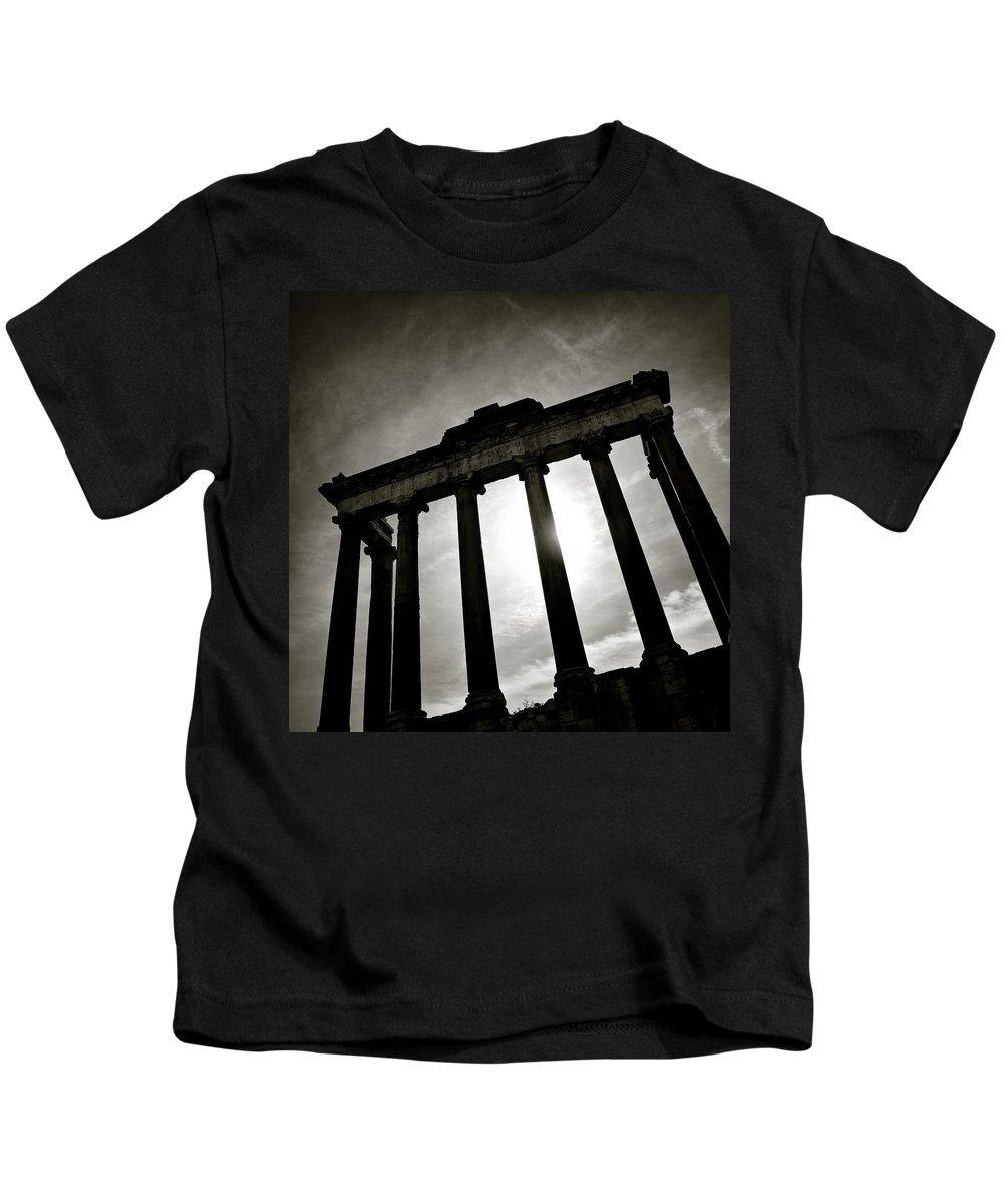 Roman Forum Kids T-Shirt featuring the photograph Roman Forum by Dave Bowman