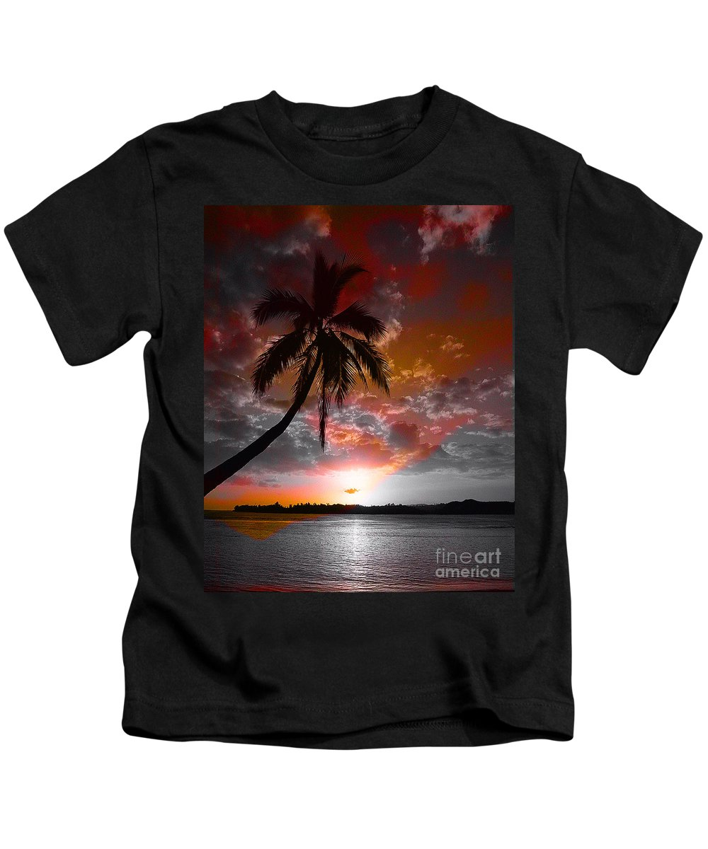 Palm Tree Image Kids T-Shirt featuring the digital art Romance II by Yael VanGruber