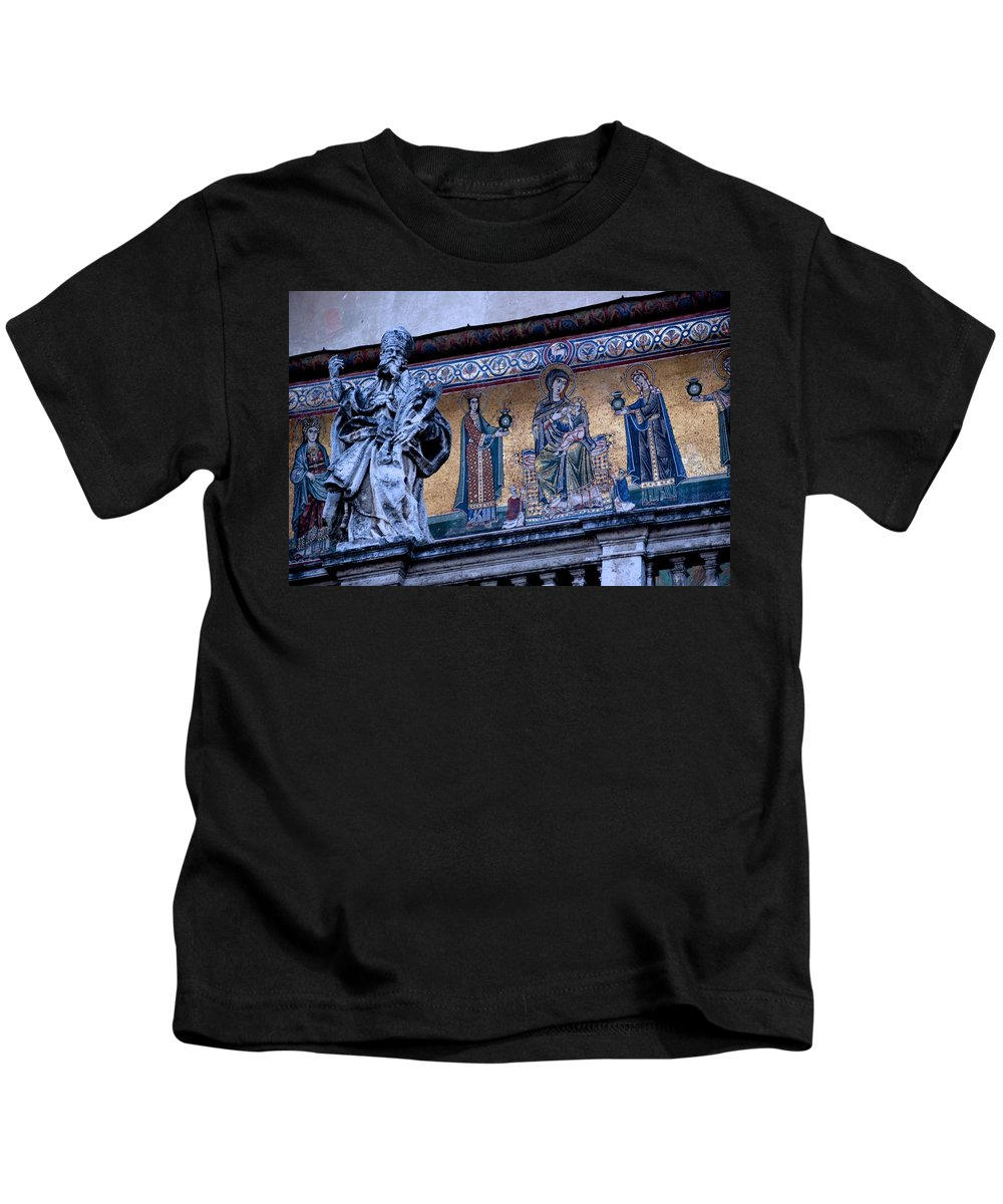 Rome Kids T-Shirt featuring the photograph Romanesque Campanile by Eric Tressler