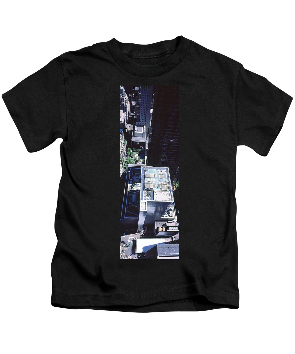 Photography Kids T-Shirt featuring the photograph Rooftop Of Museum Of Modern Art by Panoramic Images
