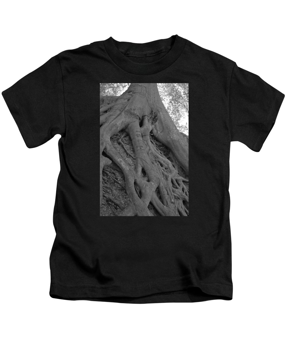 Tree Kids T-Shirt featuring the photograph Roots II by Suzanne Gaff