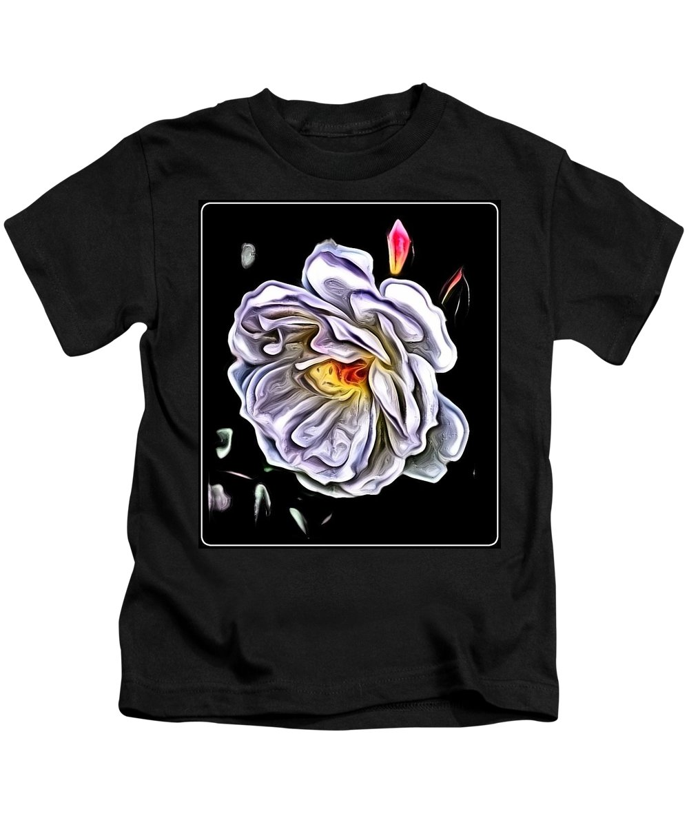 Rose Kids T-Shirt featuring the photograph Rose An Petals by Kathy Sampson