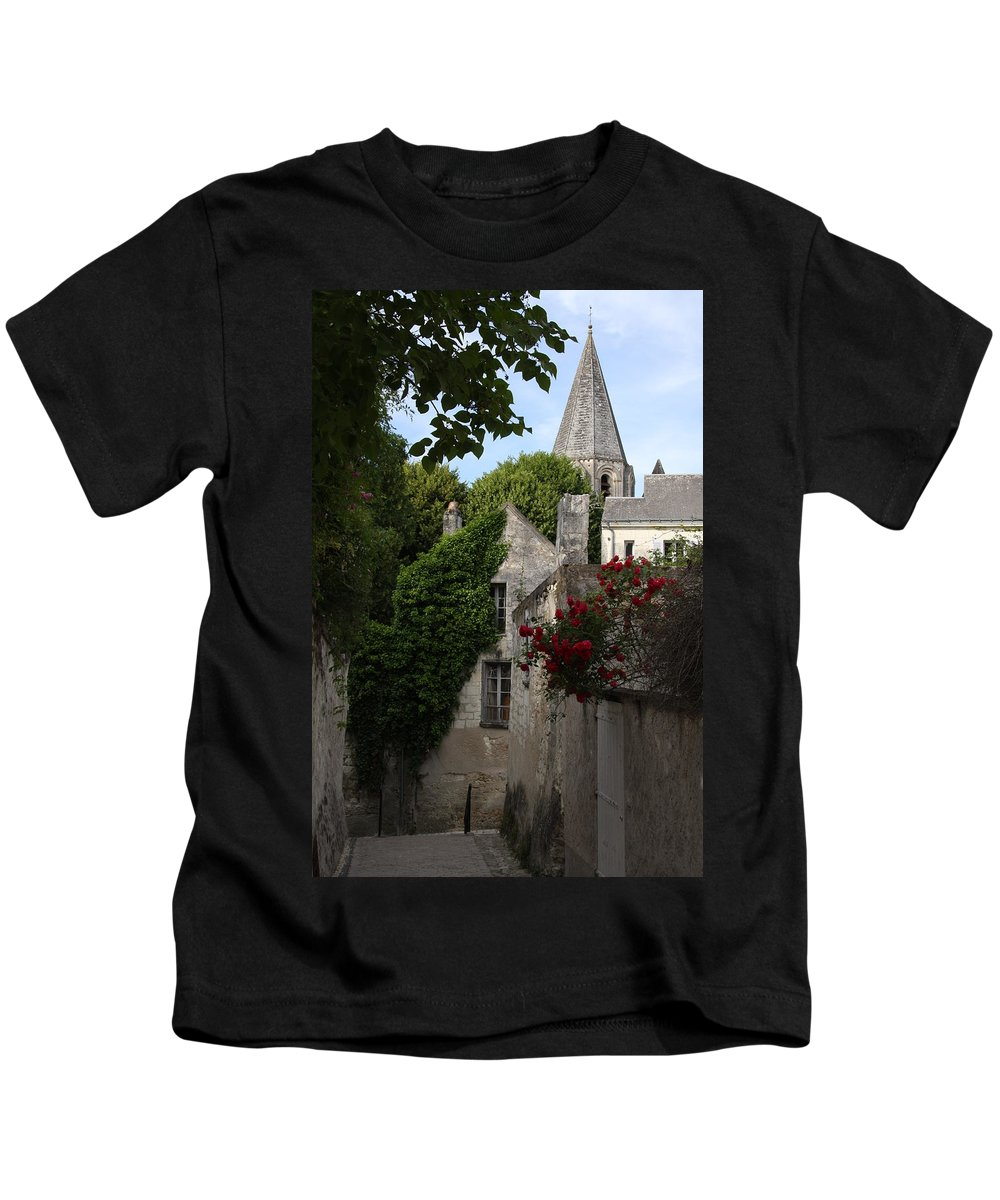 Narrow Street Kids T-Shirt featuring the photograph Rose Lane In Loches by Christiane Schulze Art And Photography