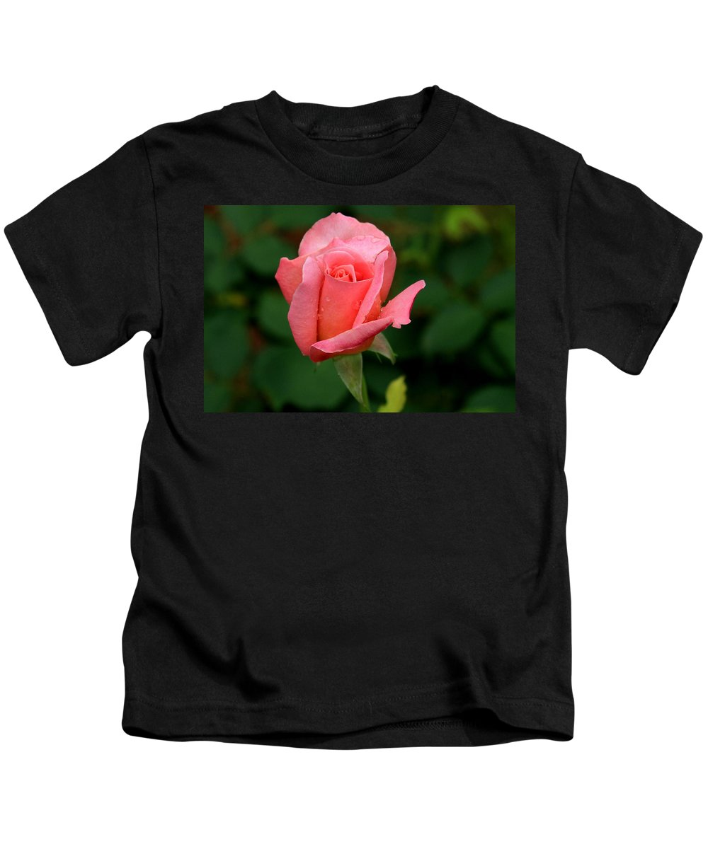 Rose Kids T-Shirt featuring the photograph Rosey by Reid Callaway