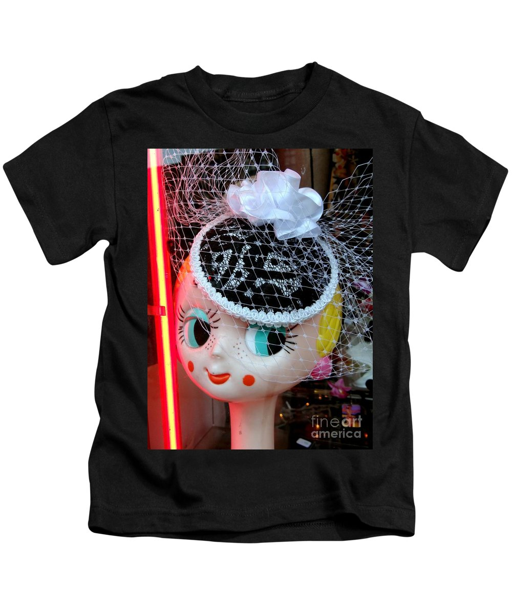 Mannequin Kids T-Shirt featuring the photograph Rosy Cheeks by Ed Weidman