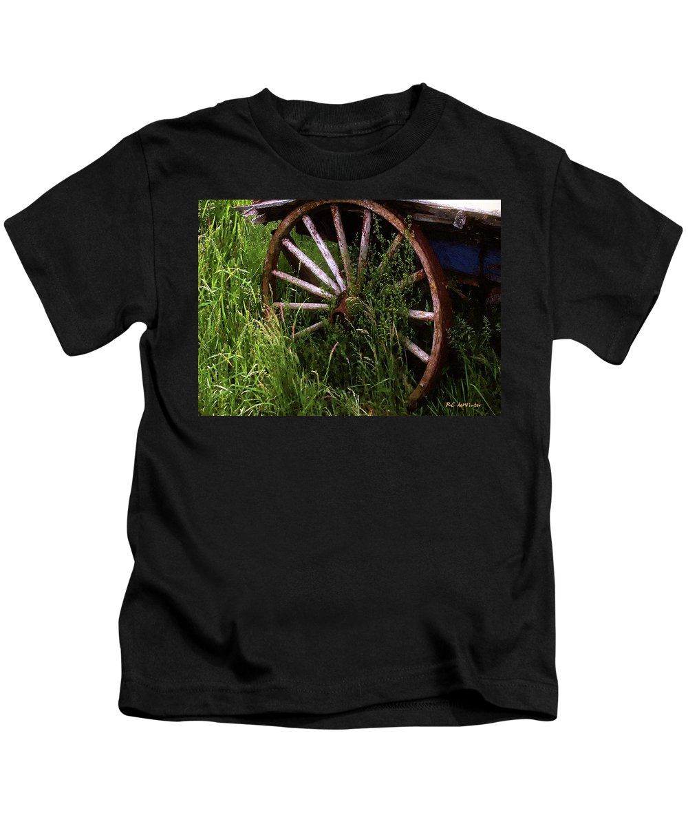 Wagon Kids T-Shirt featuring the painting Round And Rusty by RC DeWinter