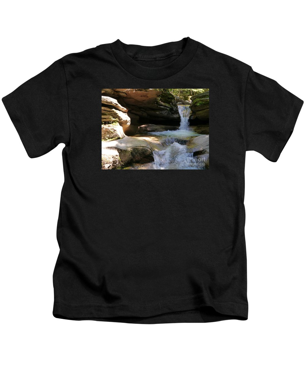 Fall Kids T-Shirt featuring the photograph Sabbaday Falls Gorge by Christiane Schulze Art And Photography