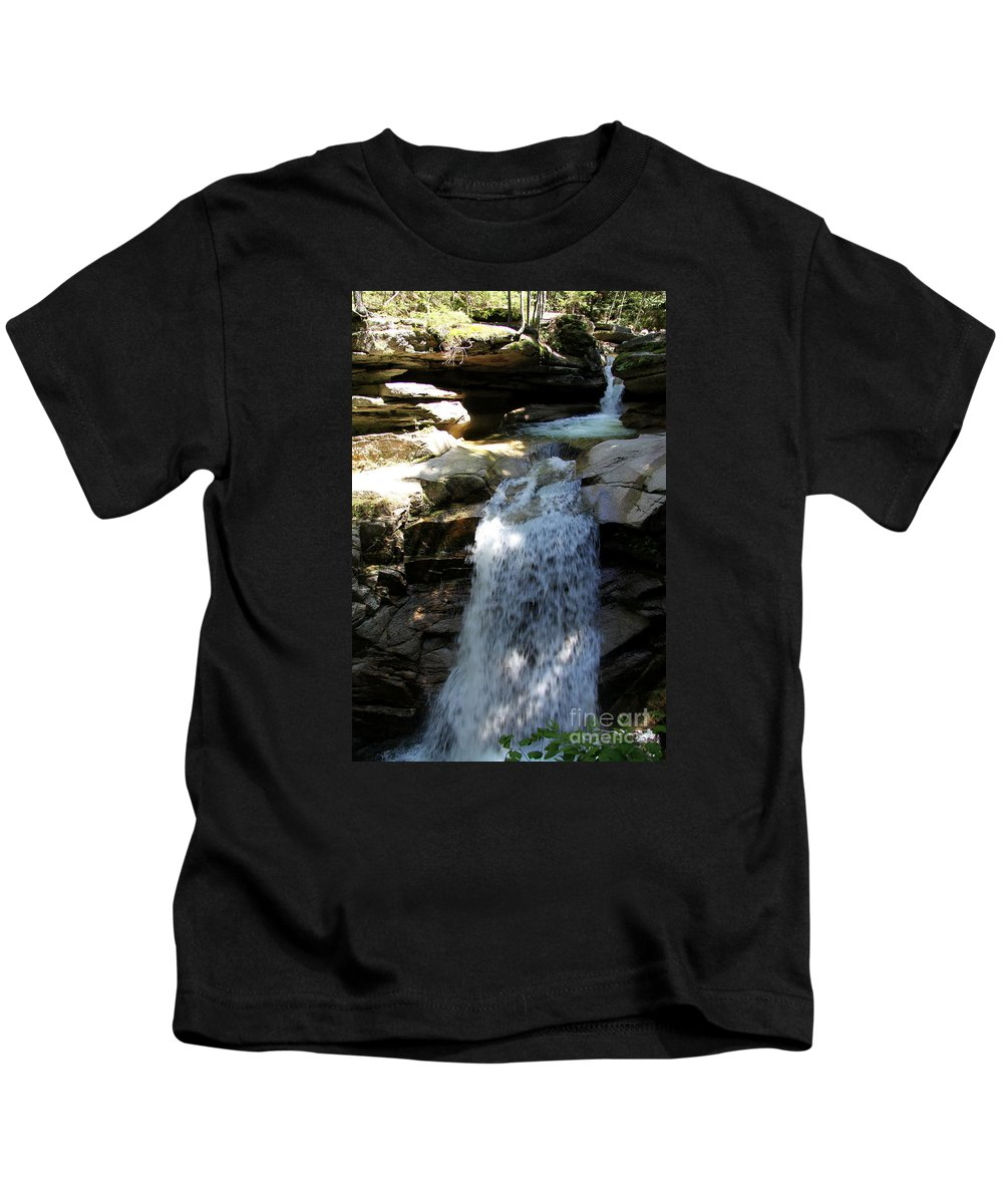 Sabbaday Falls Kids T-Shirt featuring the photograph Sabbaday Falls New Hampshire by Christiane Schulze Art And Photography