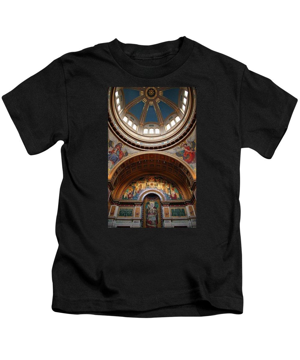 Saint Kids T-Shirt featuring the photograph Saint Matthew's Cathedral by Cora Wandel