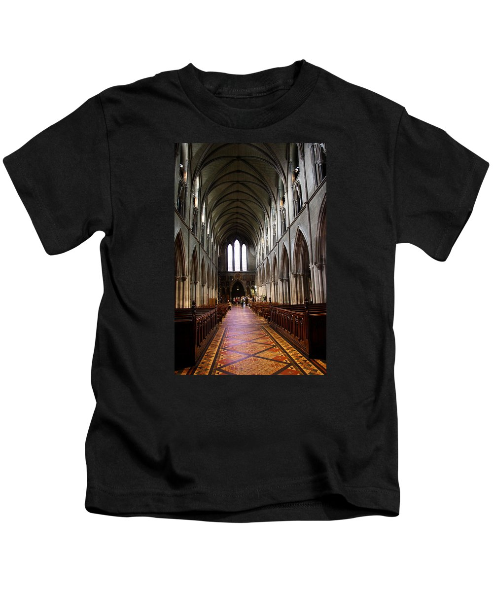 Saint Patrick's Cathedral Kids T-Shirt featuring the photograph Saint Patrick's Cathedral Interior Dublin by Christiane Schulze Art And Photography