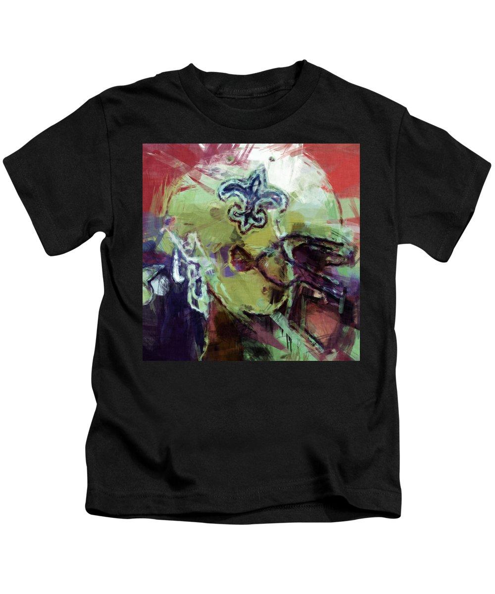 Saints Kids T-Shirt featuring the digital art Saints Art by David G Paul