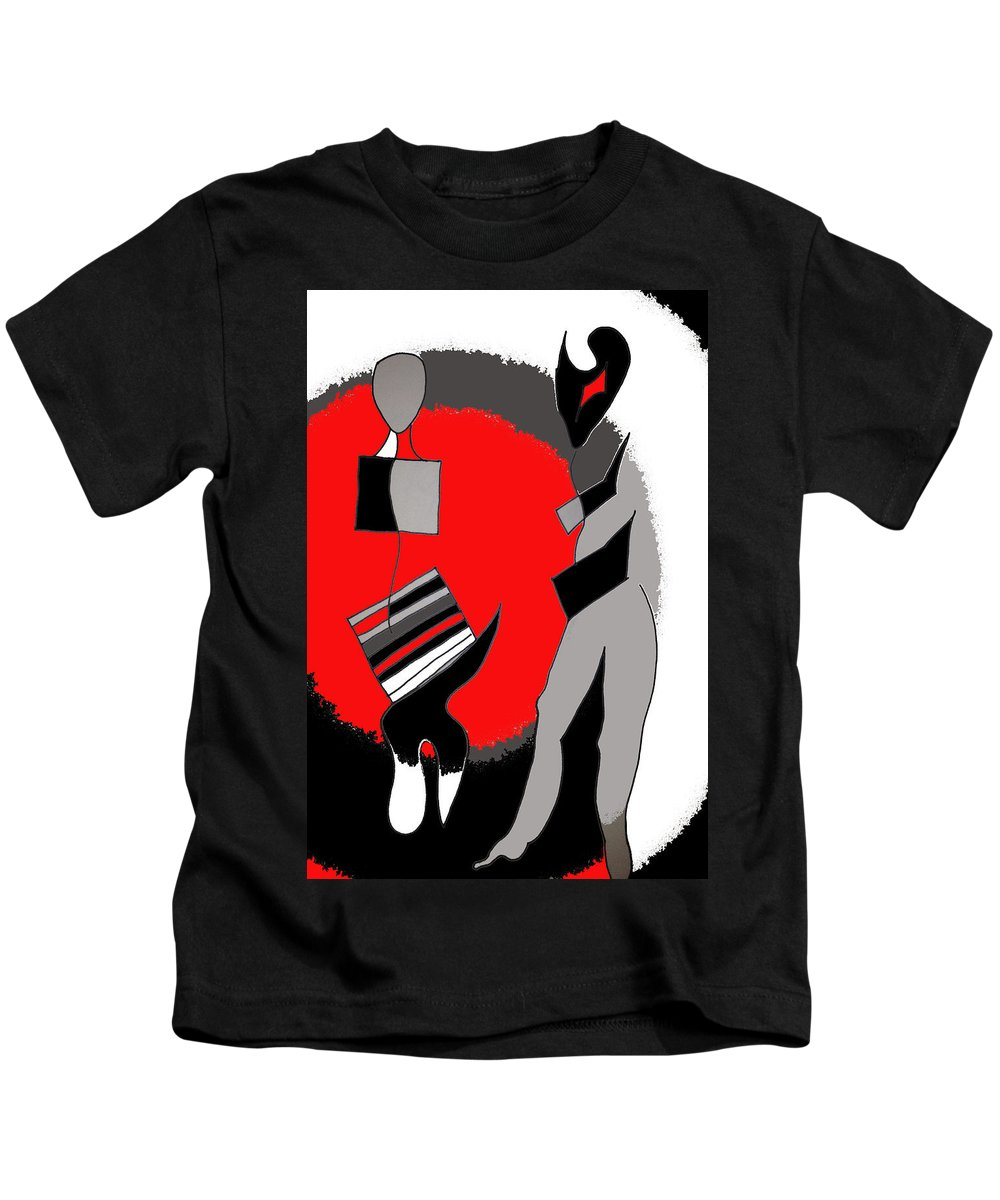 Abstract Kids T-Shirt featuring the photograph Salute The Slivers by The Artist Project
