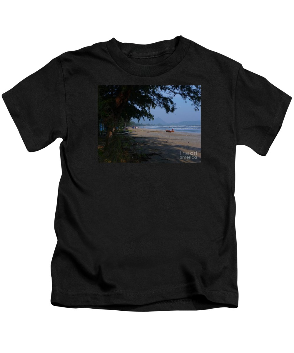 Landscape Kids T-Shirt featuring the photograph Sam Roi Yod Beach by Pusita Gibbs