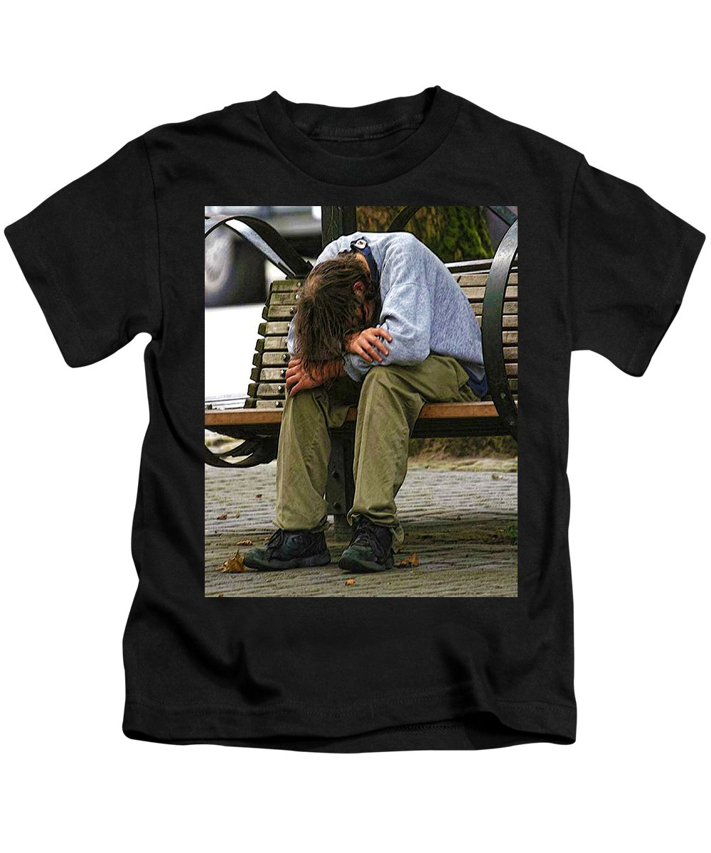Man Kids T-Shirt featuring the photograph Same As Yesterday by Terry Fiala