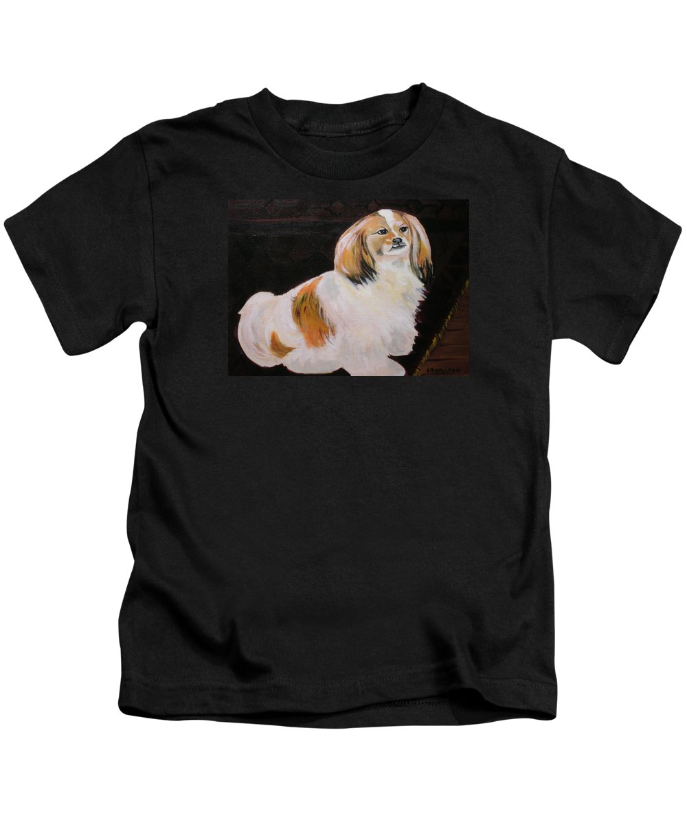 Still Life Kids T-Shirt featuring the painting Sammy by Sarah Hamilton