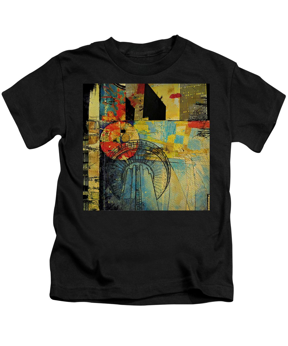 San Antonio Kids T-Shirt featuring the painting San Antonio 004 A by Corporate Art Task Force