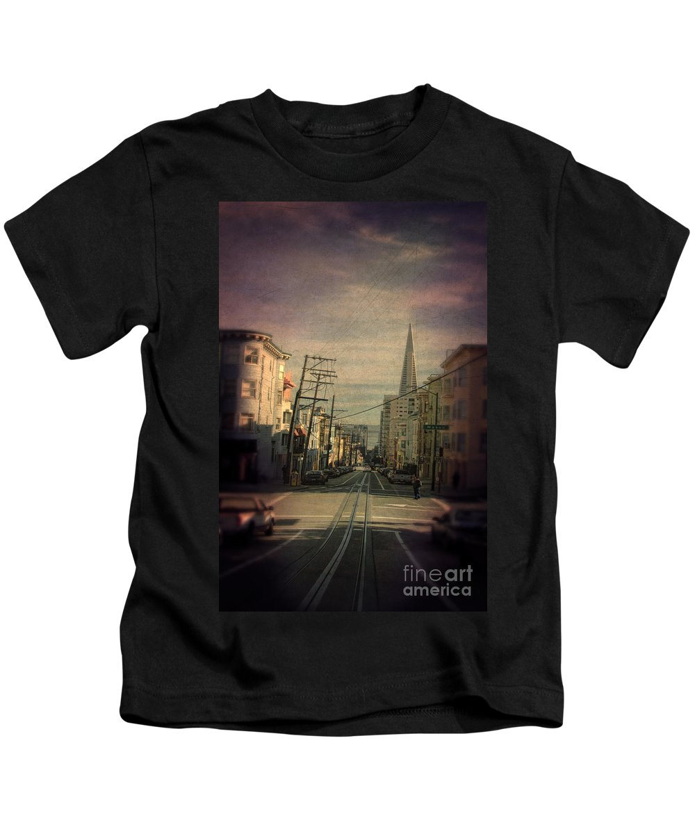 San Francisco Kids T-Shirt featuring the photograph San Francisco Street by Jill Battaglia