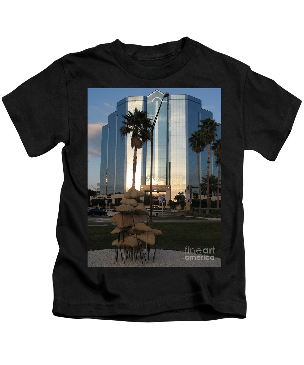Art Kids T-Shirt featuring the photograph Sarasota Waterfront - Art 2010 by Christiane Schulze Art And Photography