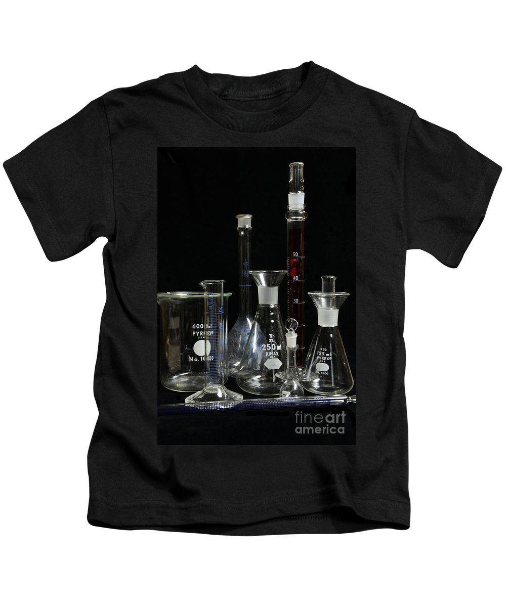 Paul Ward Kids T-Shirt featuring the photograph Science Lab Chemistry by Paul Ward