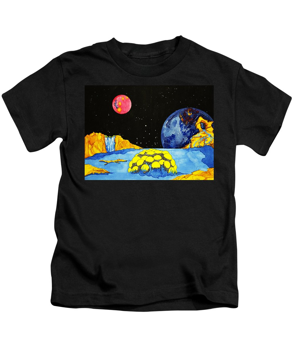 Space Kids T-Shirt featuring the painting Sea Creature by Daniel P Cronin
