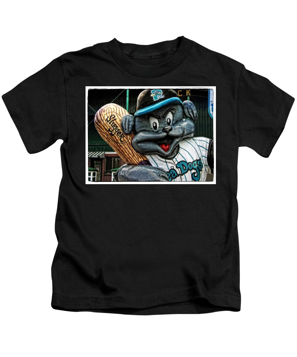 Mascot Kids T-Shirt featuring the photograph Sea Dogs Mascot by Mike Martin