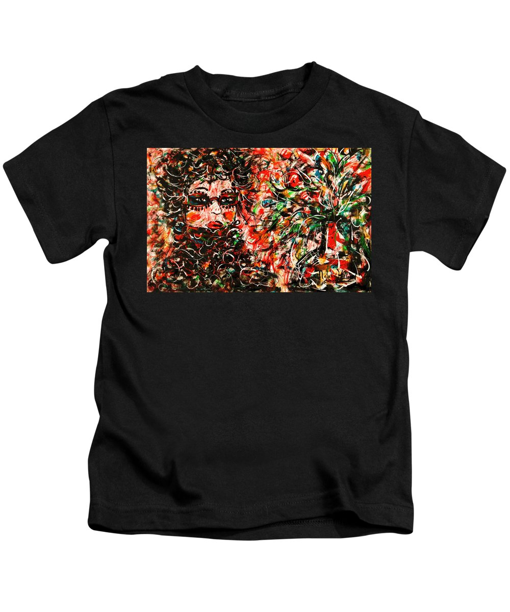 Free Expressionism Kids T-Shirt featuring the painting Secret Agent by Natalie Holland