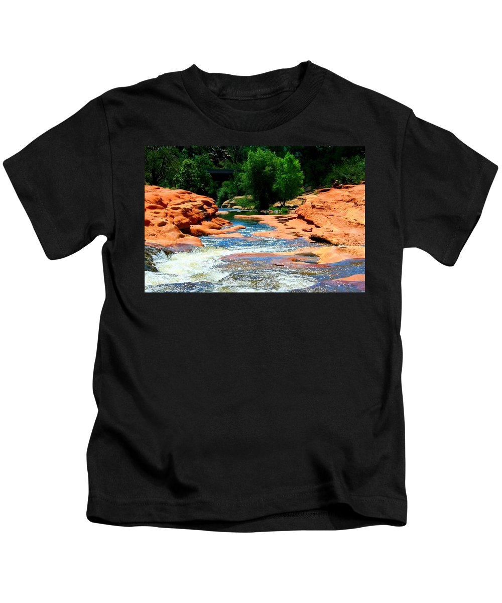 Arizona Kids T-Shirt featuring the photograph Sedona Salvation by Miles Stites