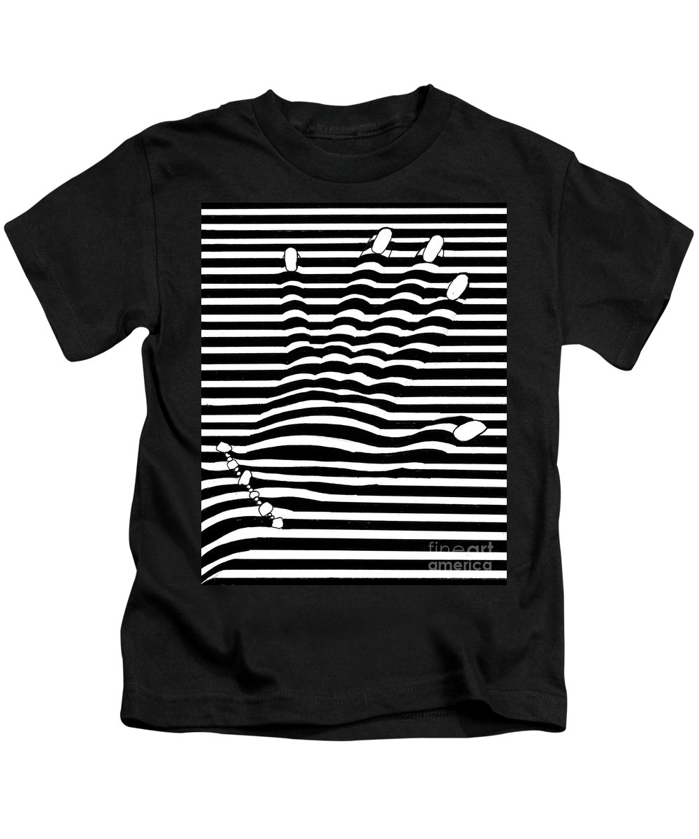 Abstract Kids T-Shirt featuring the painting Self Portrait by Kathy Drexel