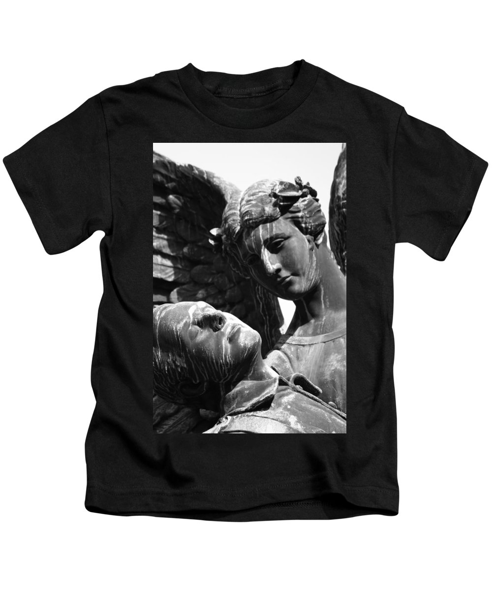 Angel Kids T-Shirt featuring the photograph Sent Down by The Artist Project