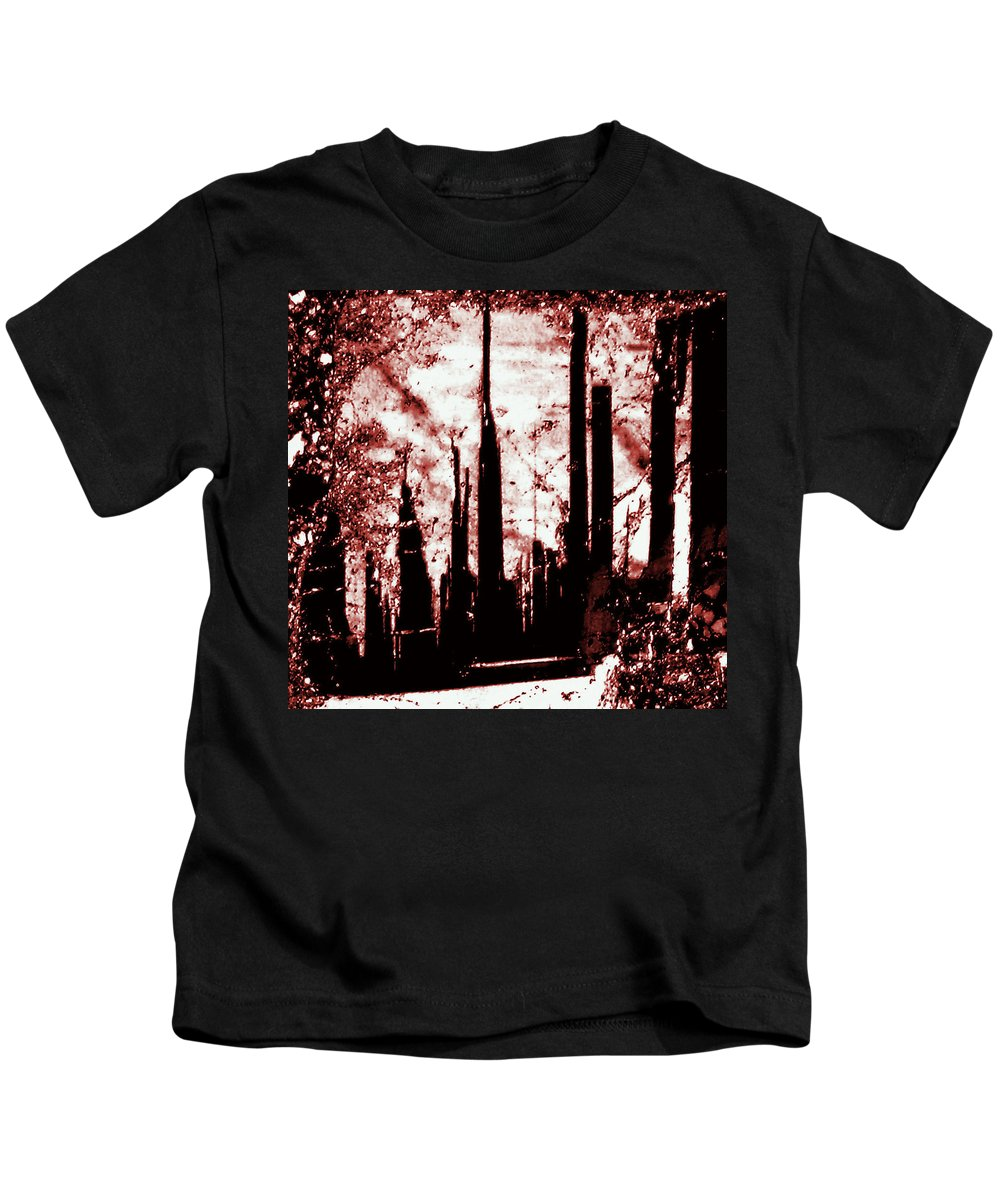 Thin Section Kids T-Shirt featuring the photograph Sepia Skyline by Jason Westin